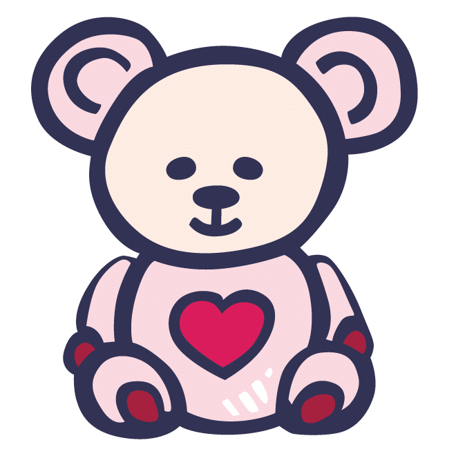 Graphic of a cute teddy bear