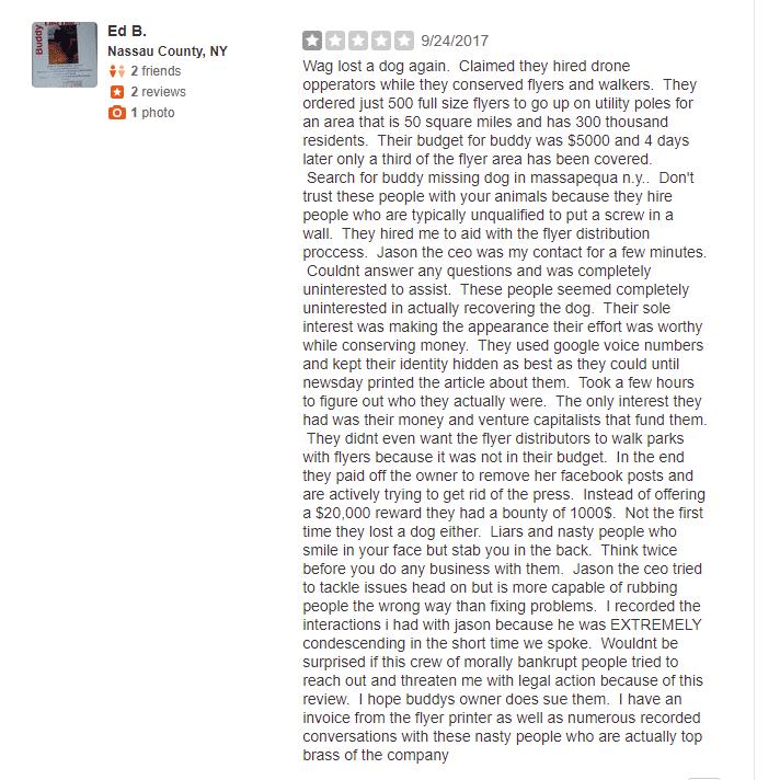 Wag app reviews